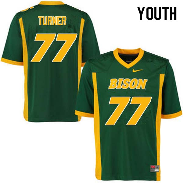 Youth #77 Billy Turner North Dakota State Bison College Football Jerseys Sale-Green