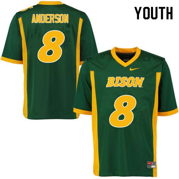 Youth #8 Bruce Anderson North Dakota State Bison College Football Jerseys Sale-Green