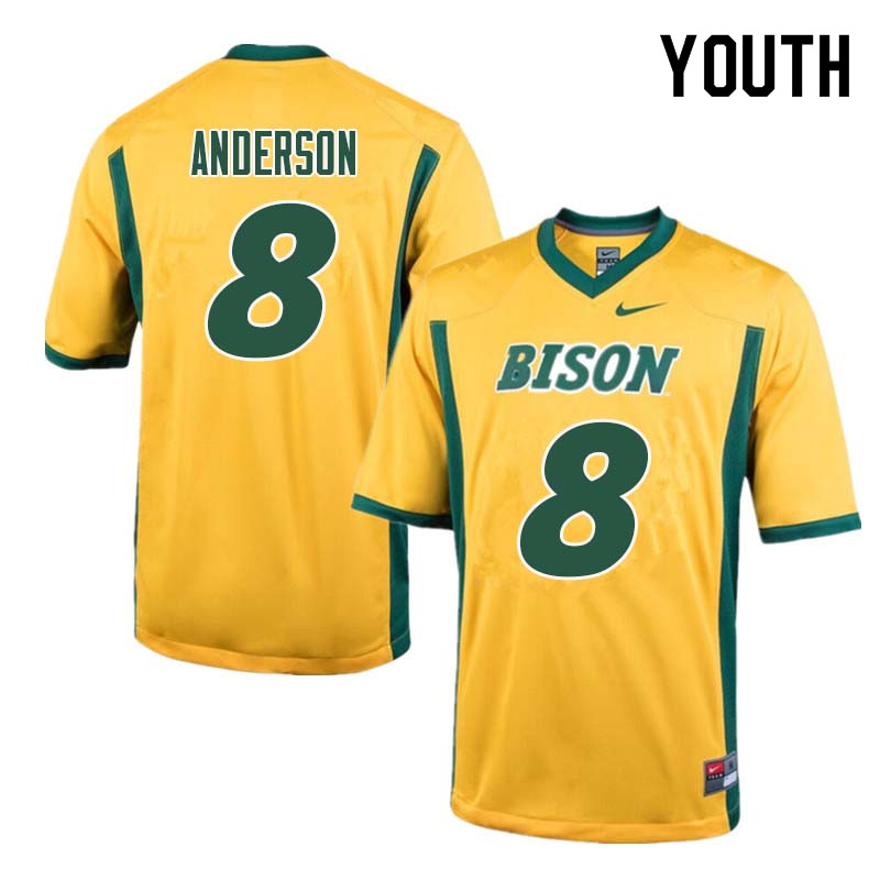 Youth #8 Bruce Anderson North Dakota State Bison College Football Jerseys Sale-Yellow