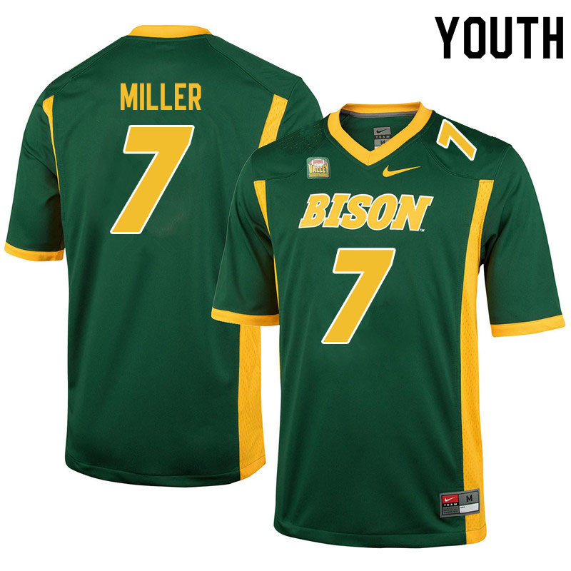 Youth #7 Cam Miller North Dakota State Bison College Football Jerseys Sale-Green
