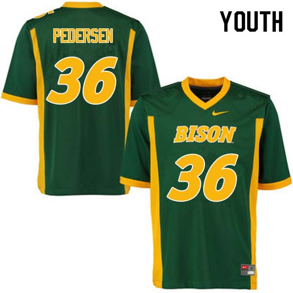 Youth #36 Cam Pedersen North Dakota State Bison College Football Jerseys Sale-Green