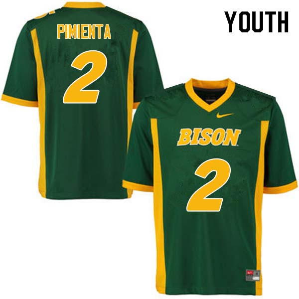 Youth #2 Cordell Pimienta North Dakota State Bison College Football Jerseys Sale-Green