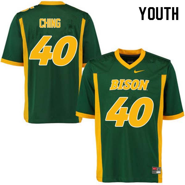 Youth #40 Costner Ching North Dakota State Bison College Football Jerseys Sale-Green