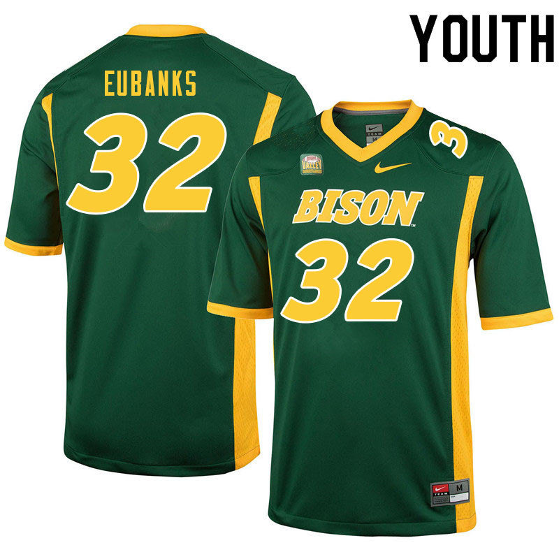 Youth #32 Courtney Eubanks North Dakota State Bison College Football Jerseys Sale-Green