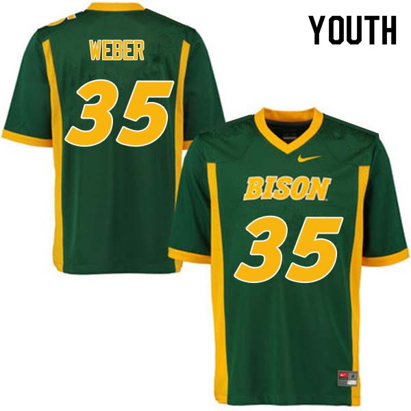 Youth #35 Dawson Weber North Dakota State Bison College Football Jerseys Sale-Green