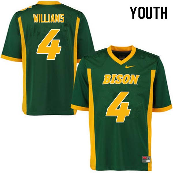 Youth #4 Dimitri Williams North Dakota State Bison College Football Jerseys Sale-Green