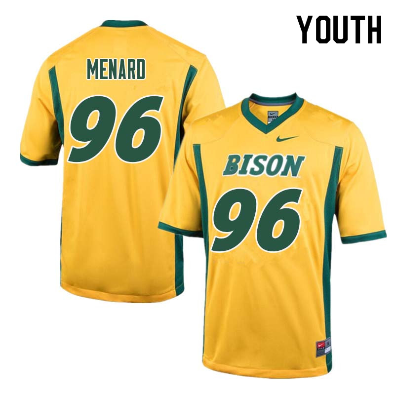 Youth #96 Greg Menard North Dakota State Bison College Football Jerseys Sale-Yellow