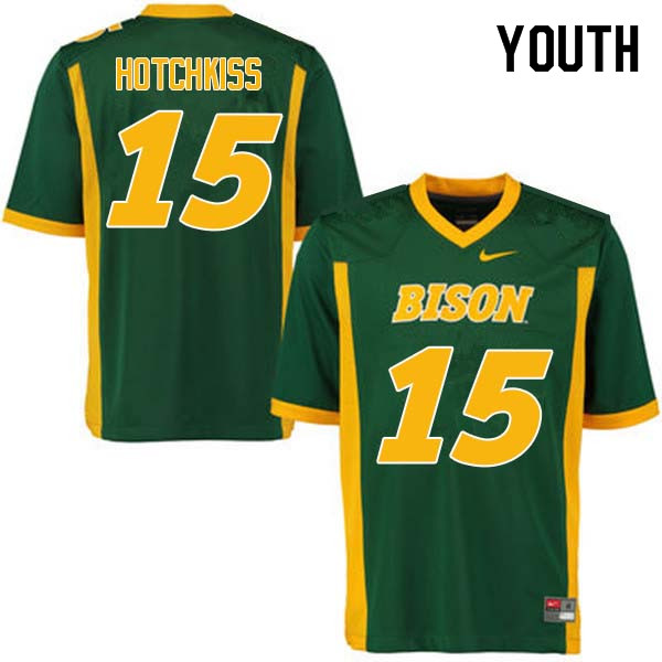 Youth #15 Holden Hotchkiss North Dakota State Bison College Football Jerseys Sale-Green