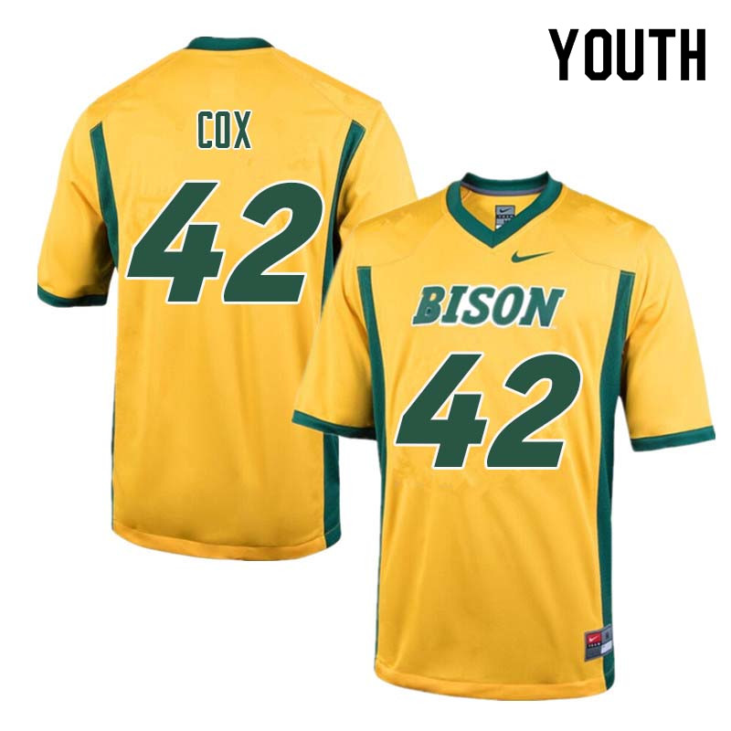 Youth #42 Jabril Cox North Dakota State Bison College Football Jerseys Sale-Yellow