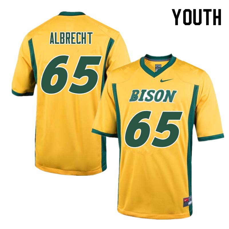 Youth #65 Jack Albrecht North Dakota State Bison College Football Jerseys Sale-Yellow