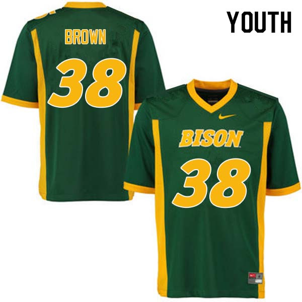 Youth #38 Jaxon Brown North Dakota State Bison College Football Jerseys Sale-Green