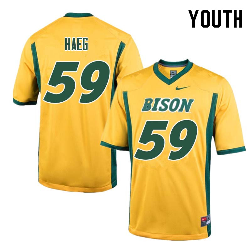 Youth #59 Joe Haeg North Dakota State Bison College Football Jerseys Sale-Yellow