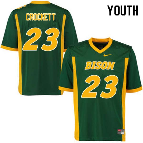 Youth #23 John Crockett North Dakota State Bison College Football Jerseys Sale-Green