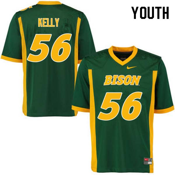 Youth #56 Justice Kelly North Dakota State Bison College Football Jerseys Sale-Green