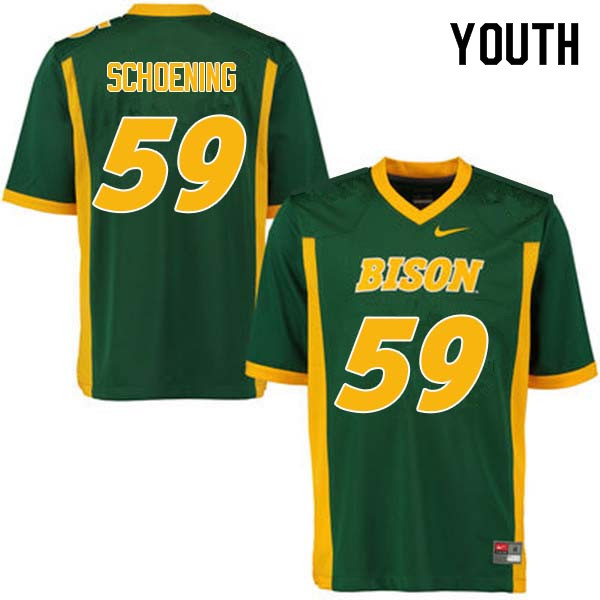 Youth #59 Karson Schoening North Dakota State Bison College Football Jerseys Sale-Green