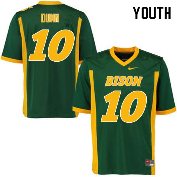 Youth #10 Lance Dunn North Dakota State Bison College Football Jerseys Sale-Green