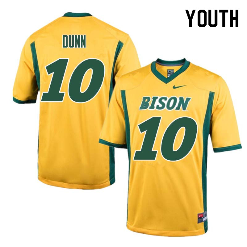Youth #10 Lance Dunn North Dakota State Bison College Football Jerseys Sale-Yellow