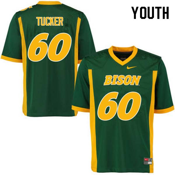 Youth #60 Lane Tucker North Dakota State Bison College Football Jerseys Sale-Green