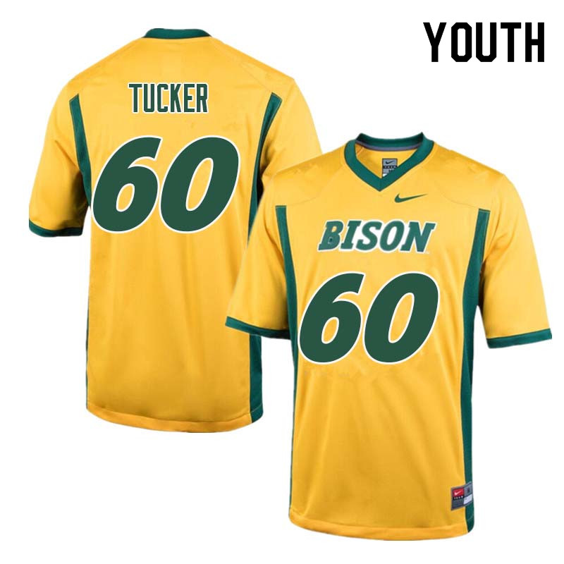 Youth #60 Lane Tucker North Dakota State Bison College Football Jerseys Sale-Yellow