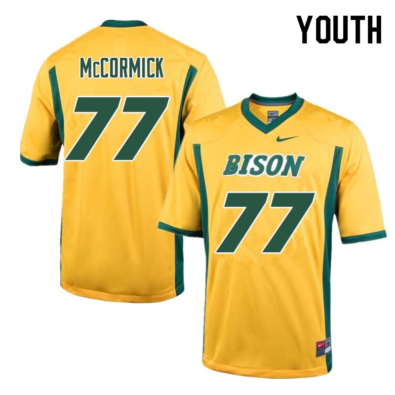 Youth #77 Logan McCormick North Dakota State Bison College Football Jerseys Sale-Yellow