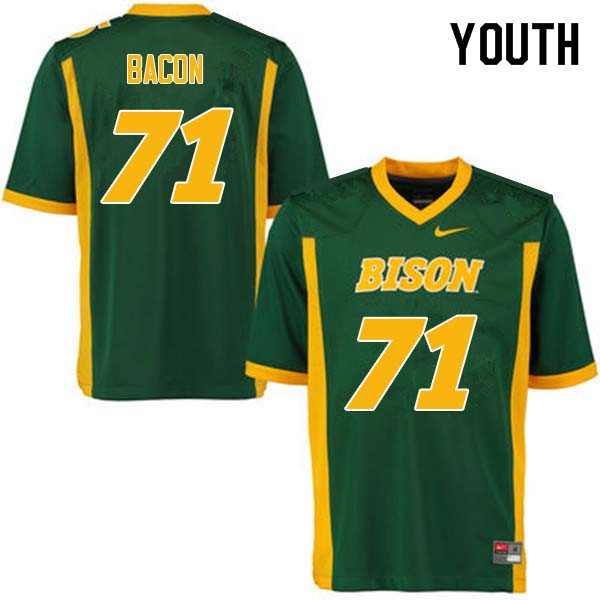Youth #71 Luke Bacon North Dakota State Bison College Football Jerseys Sale-Green