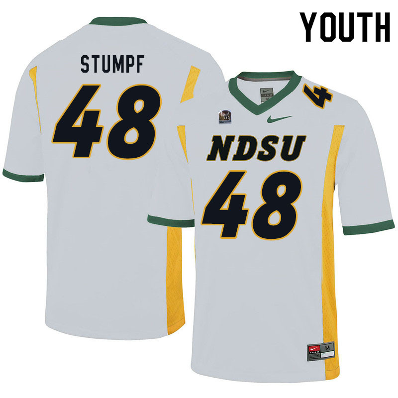 Youth #48 Mark Stumpf North Dakota State Bison College Football Jerseys Sale-White