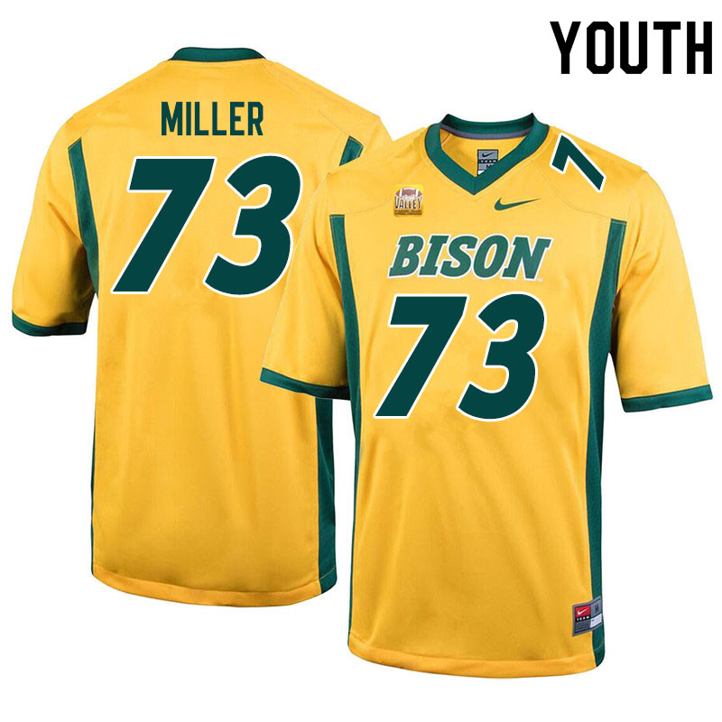 Youth #73 Mason Miller North Dakota State Bison College Football Jerseys Sale-Yellow