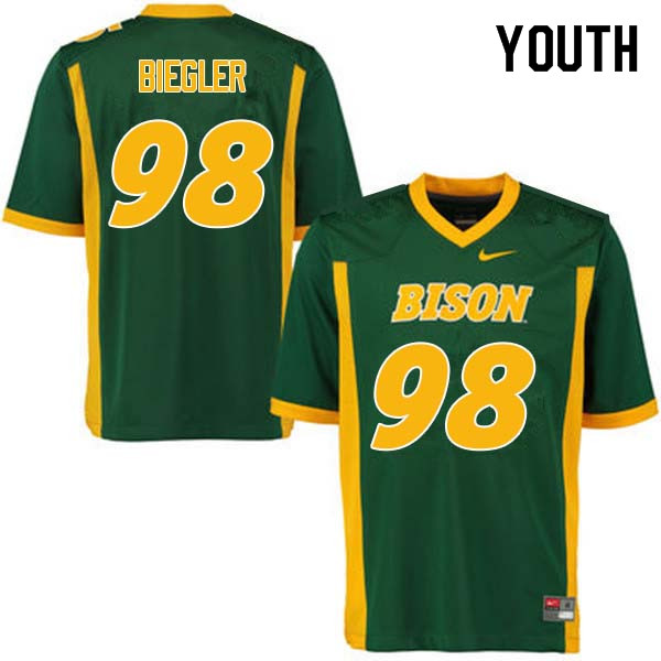 Youth #98 Matt Biegler North Dakota State Bison College Football Jerseys Sale-Green