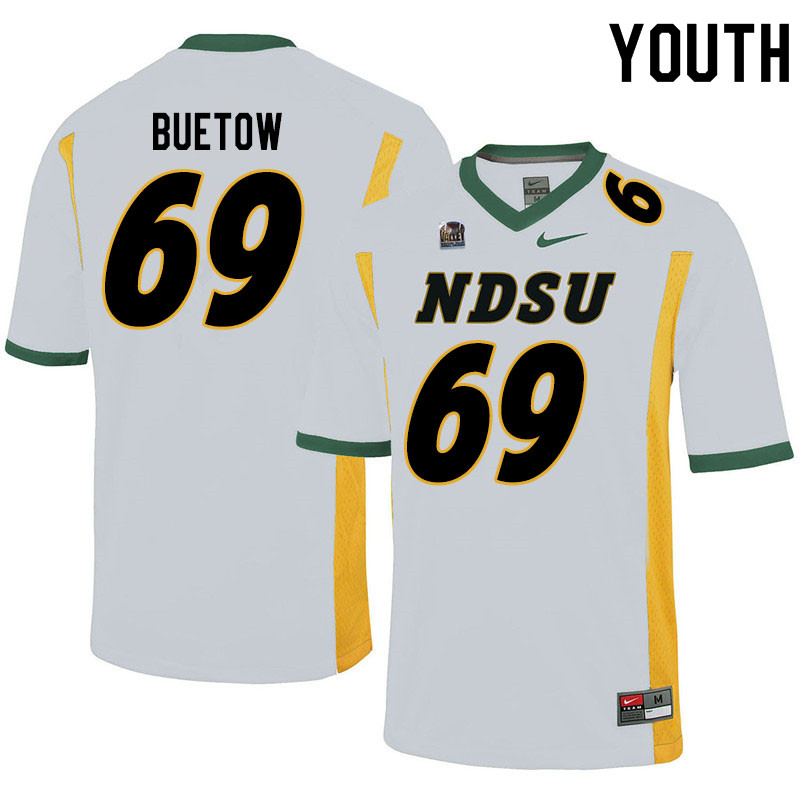 Youth #69 Michael Buetow North Dakota State Bison College Football Jerseys Sale-White