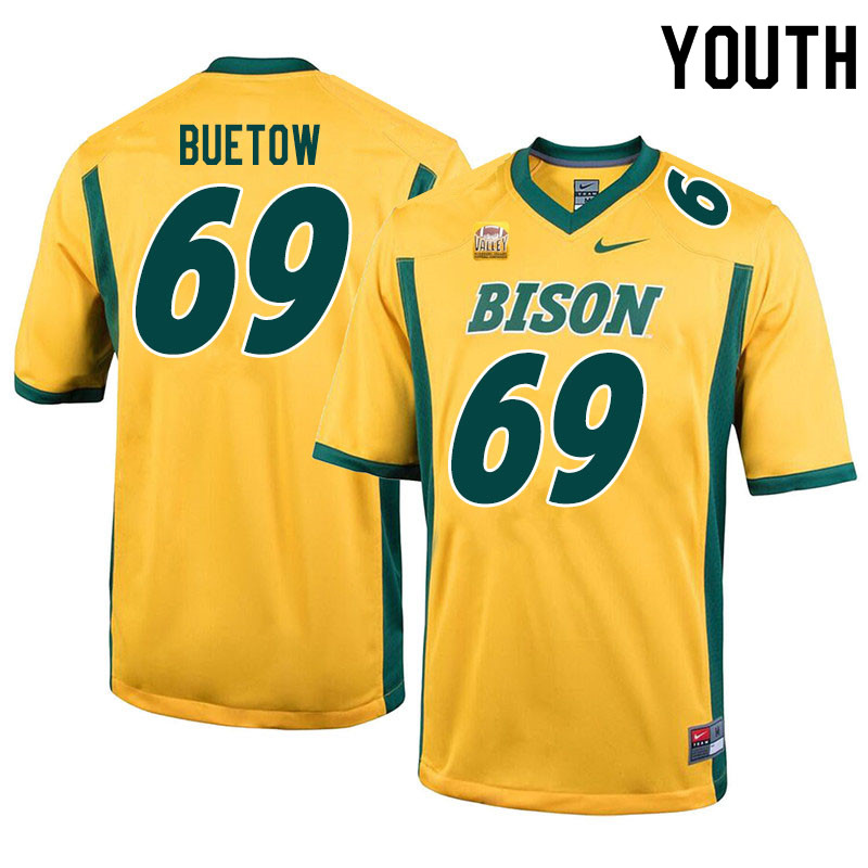Youth #69 Michael Buetow North Dakota State Bison College Football Jerseys Sale-Yellow