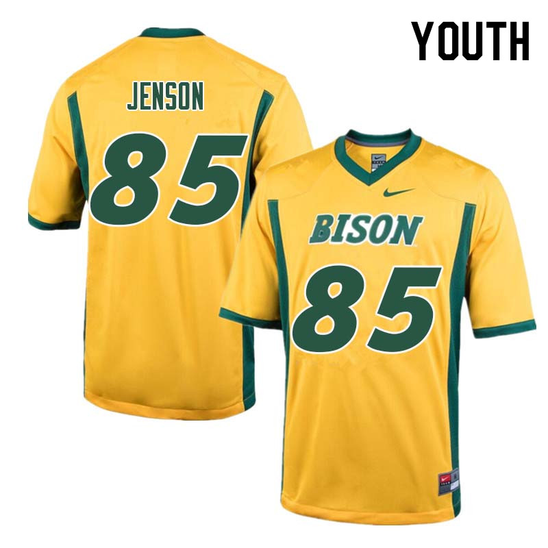 Youth #85 Nate Jenson North Dakota State Bison College Football Jerseys Sale-Yellow