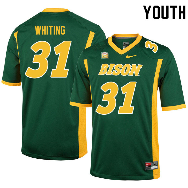 Youth #31 Nathan Whiting North Dakota State Bison College Football Jerseys Sale-Green