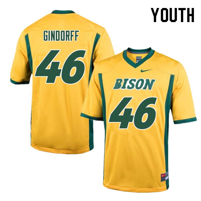 Youth #46 Noah Gindorff North Dakota State Bison College Football Jerseys Sale-Yellow