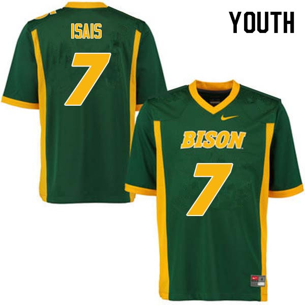 Youth #7 Peter Isais North Dakota State Bison College Football Jerseys Sale-Green