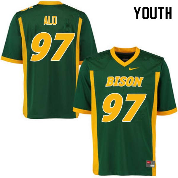 Youth #97 Quinn Alo North Dakota State Bison College Football Jerseys Sale-Green