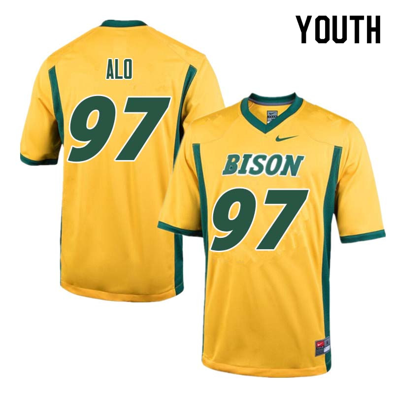 Youth #97 Quinn Alo North Dakota State Bison College Football Jerseys Sale-Yellow