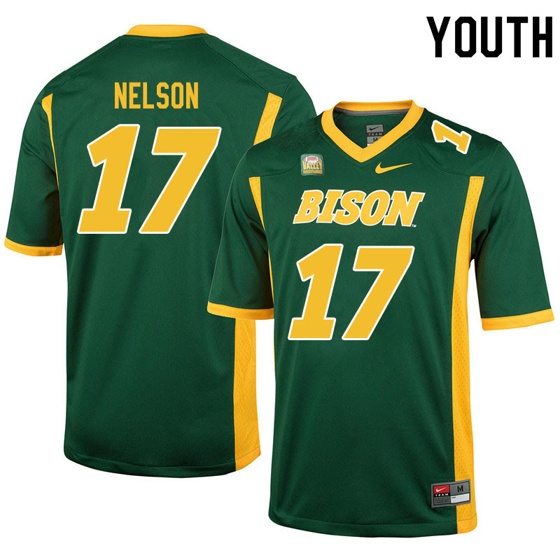 Youth #17 RaJa Nelson North Dakota State Bison College Football Jerseys Sale-Green