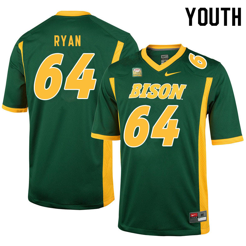 Youth #64 Reed Ryan North Dakota State Bison College Football Jerseys Sale-Green