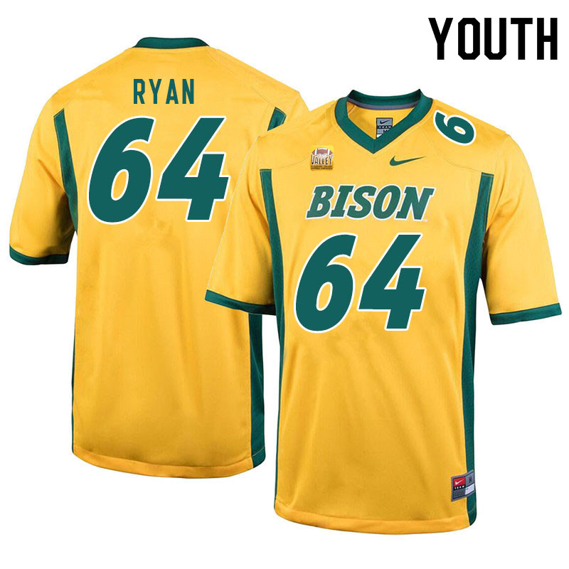Youth #64 Reed Ryan North Dakota State Bison College Football Jerseys Sale-Yellow