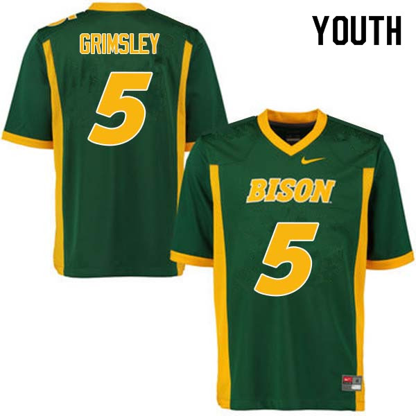 Youth #5 Robbie Grimsley North Dakota State Bison College Football Jerseys Sale-Green