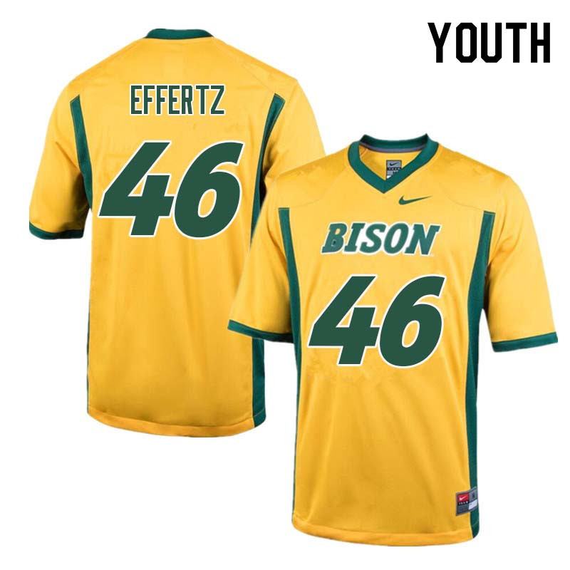 Youth #46 Ross Effertz North Dakota State Bison College Football Jerseys Sale-Yellow