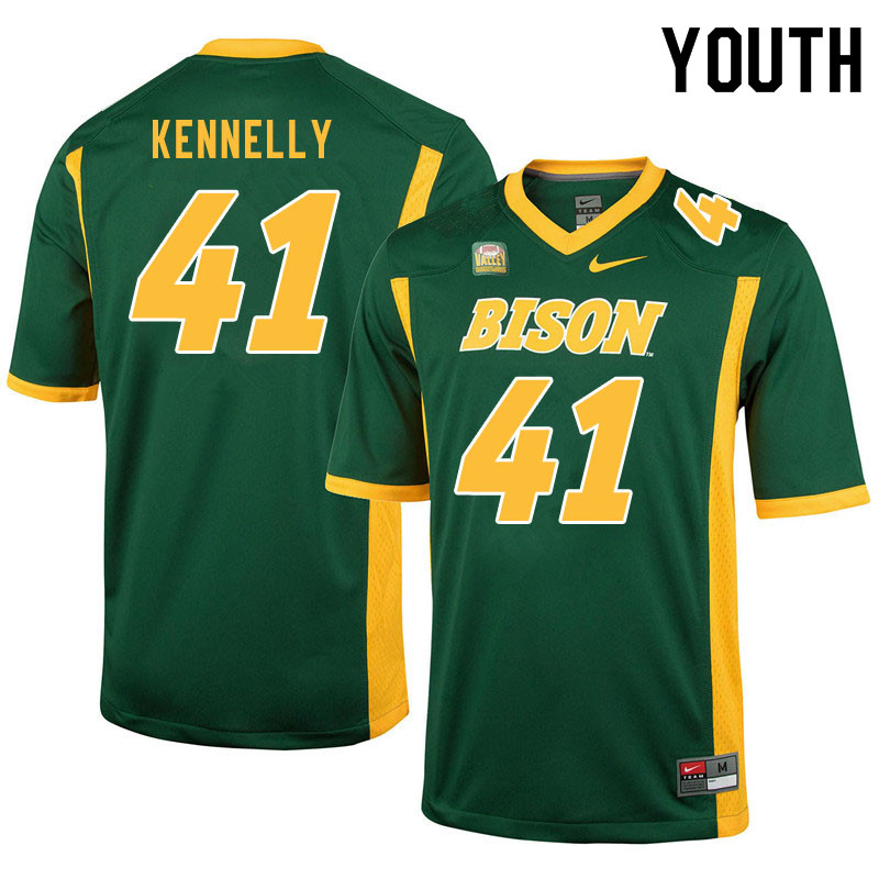Youth #41 Ross Kennelly North Dakota State Bison College Football Jerseys Sale-Green
