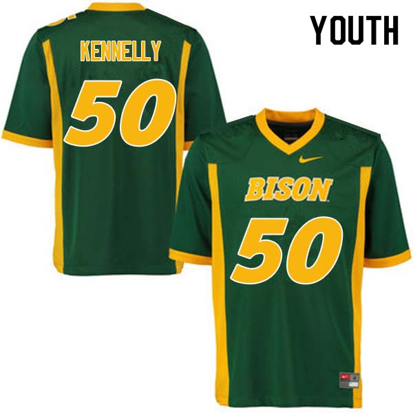 Youth #50 Ross Kennelly North Dakota State Bison College Football Jerseys Sale-Green