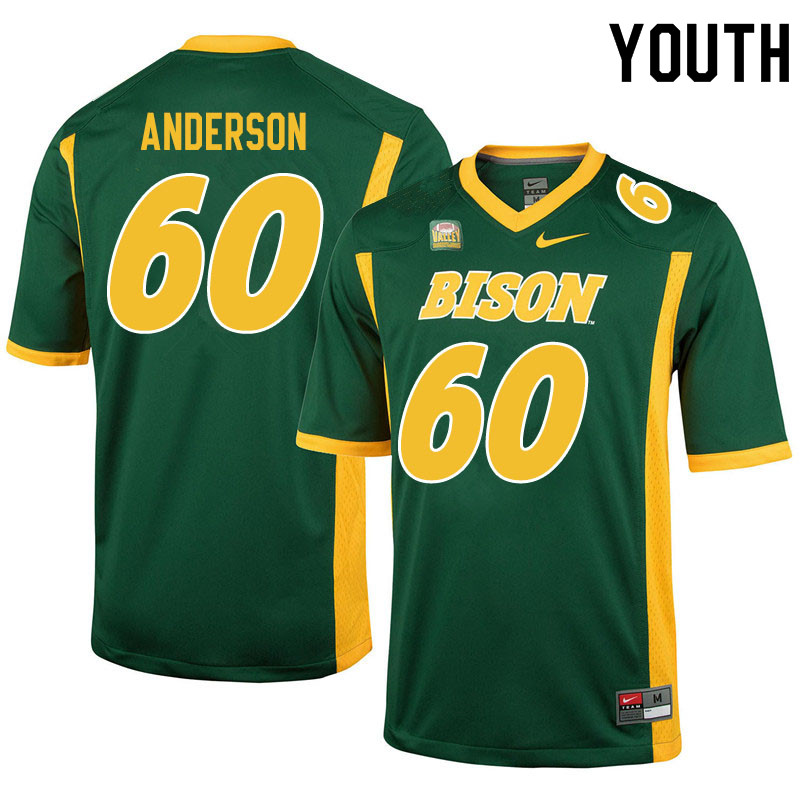 Youth #60 Seth Anderson North Dakota State Bison College Football Jerseys Sale-Green