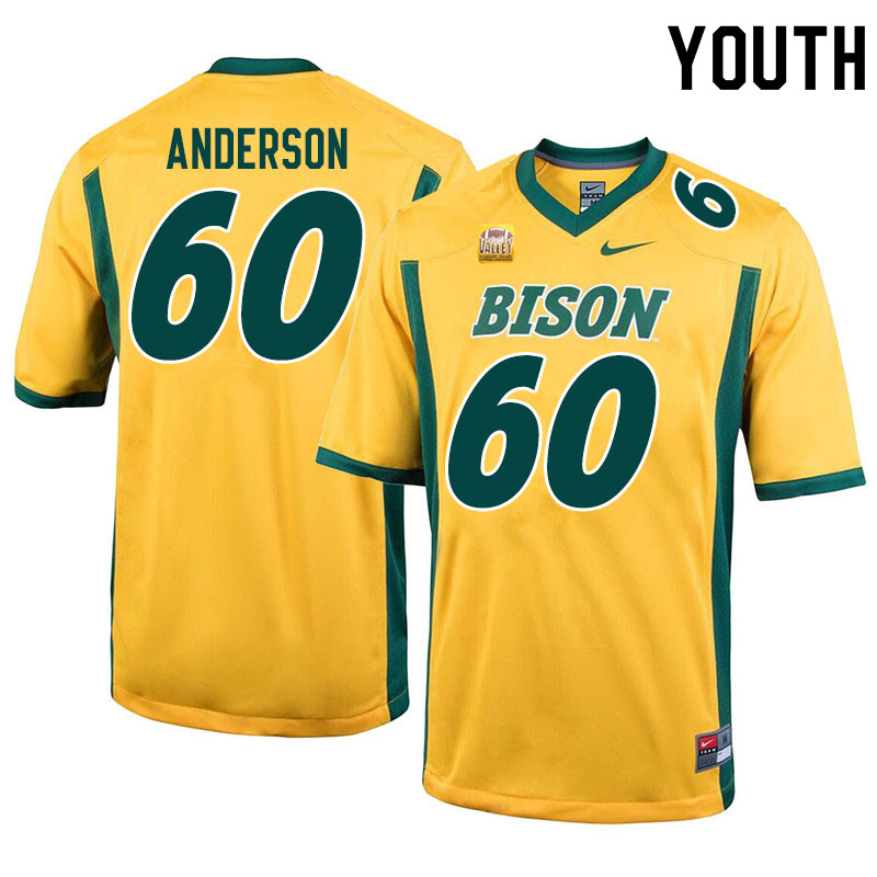 Youth #60 Seth Anderson North Dakota State Bison College Football Jerseys Sale-Yellow