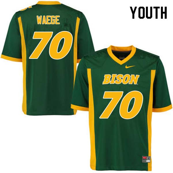 Youth #70 Spencer Waege North Dakota State Bison College Football Jerseys Sale-Green