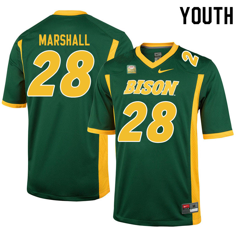 Youth #28 TK Marshall North Dakota State Bison College Football Jerseys Sale-Green