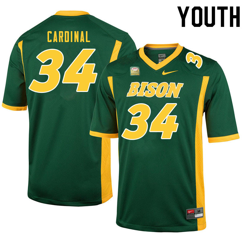 Youth #34 Will Cardinal North Dakota State Bison College Football Jerseys Sale-Green