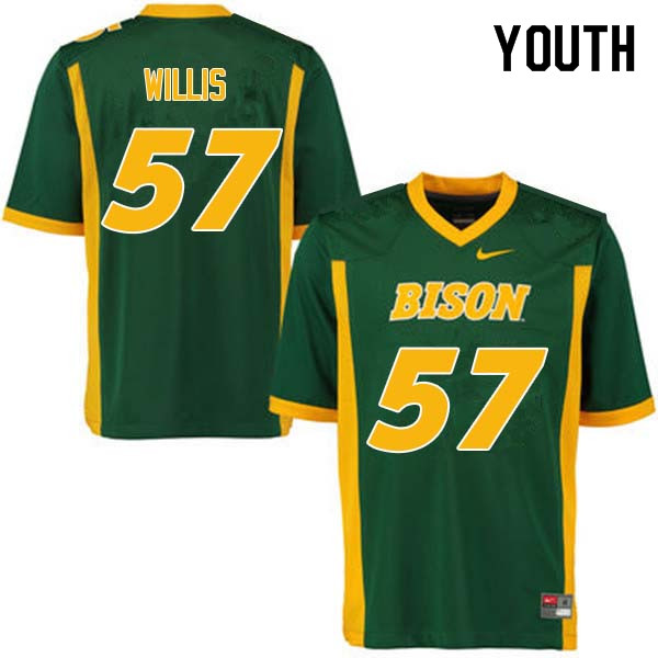 Youth #57 Zach Willis North Dakota State Bison College Football Jerseys Sale-Green
