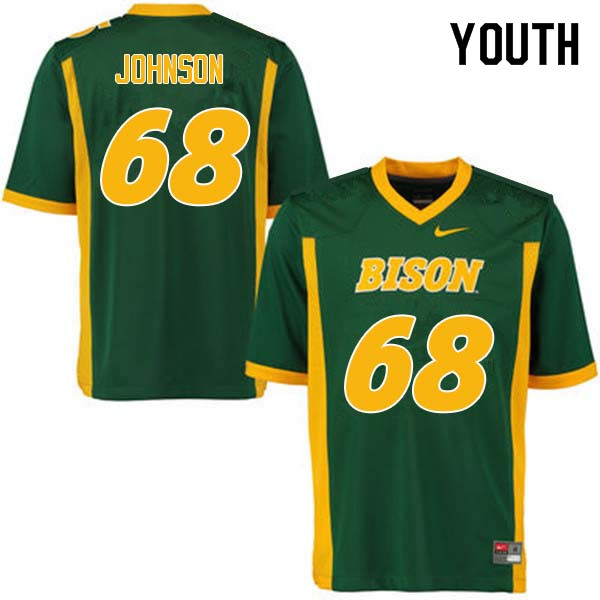 Youth #68 Zack Johnson North Dakota State Bison College Football Jerseys Sale-Green